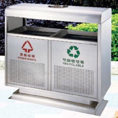 【新型砂钢分类垃圾桶