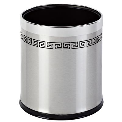 【圆形双层镂空房间桶/铁烤漆客房垃圾桶】价格
